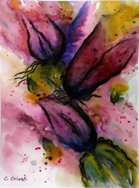 Painting - Flowers In Anguish by Carol Crisafi
