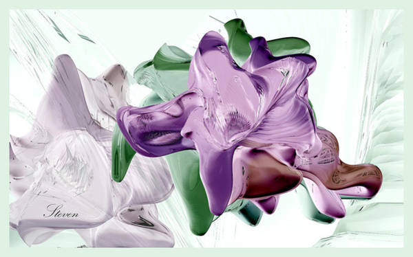 Wall Art - Digital Art - Flowers In Glass by Steven Lebron Langston