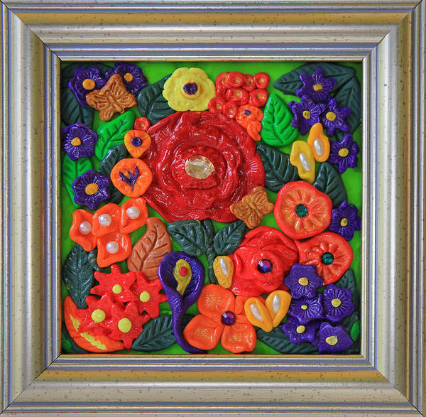 Polymer Clay Photograph - Flowers In Polymer Clay by Donna Haggerty
