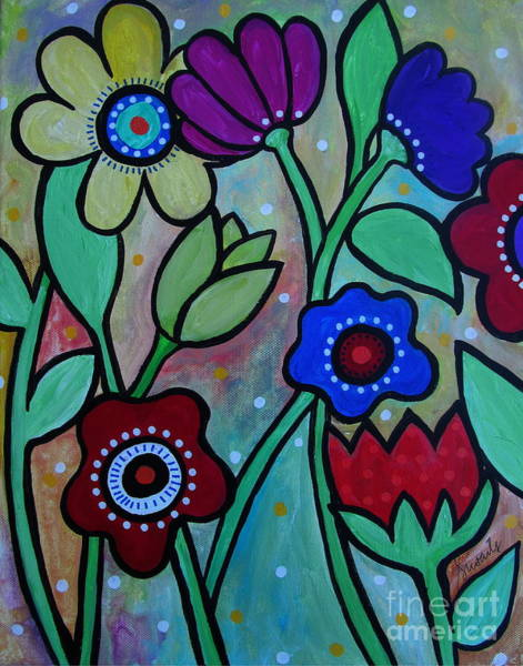 Painting - Flowers In Spring by Pristine Cartera Turkus