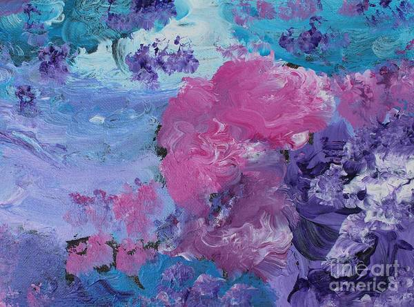 Diverted Wall Art - Painting - Flowers In The Clouds by Sarahleah Hankes