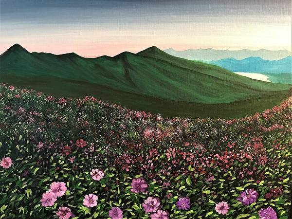 Wall Art - Painting - Flowers In The Field by Willy Proctor