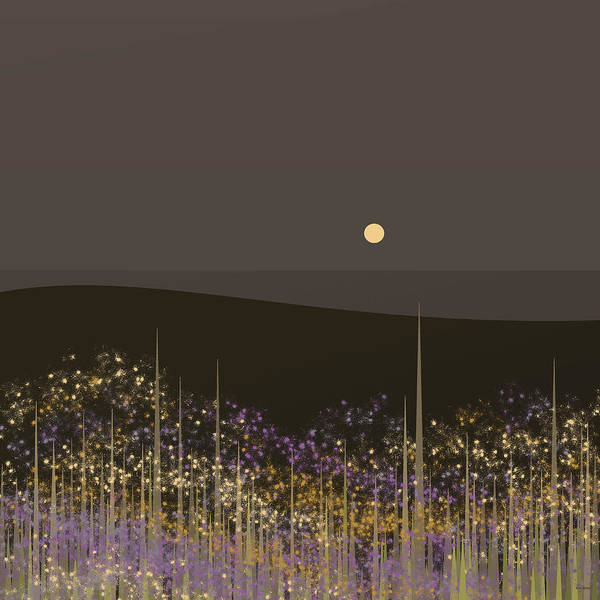 Flowers In The Moonlight Art Print