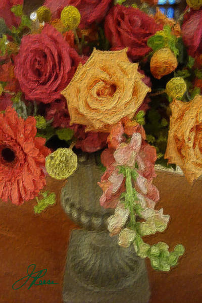 Painting - Flowers In Vase by Joan Reese