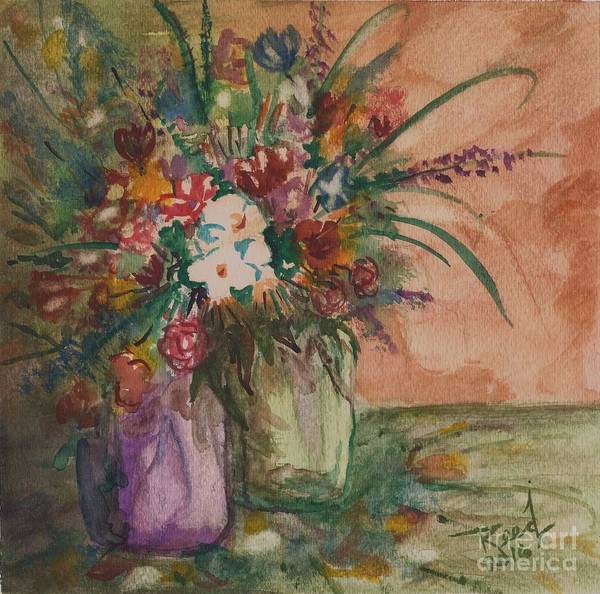 Flowers In Vases 2 Art Print