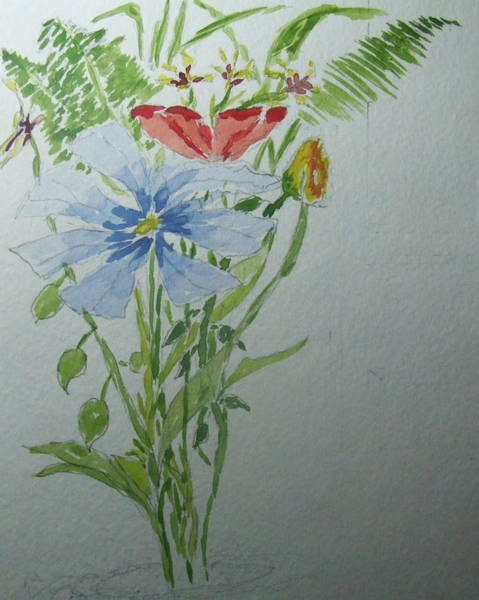 James Johnson Painting - Flowers by James Johnson