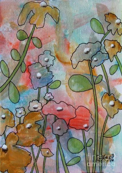 Dye Painting - Flowers by Karla Gerard