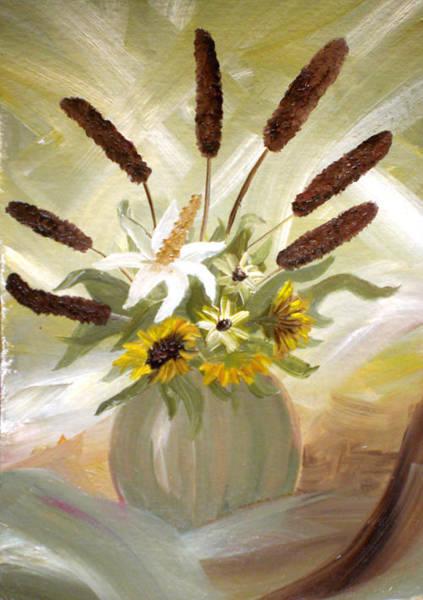 Acrilic Painting - Flowers by Laura Sam