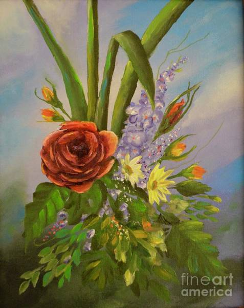 Painting - Flowers Make Me Smile by Mary Scott