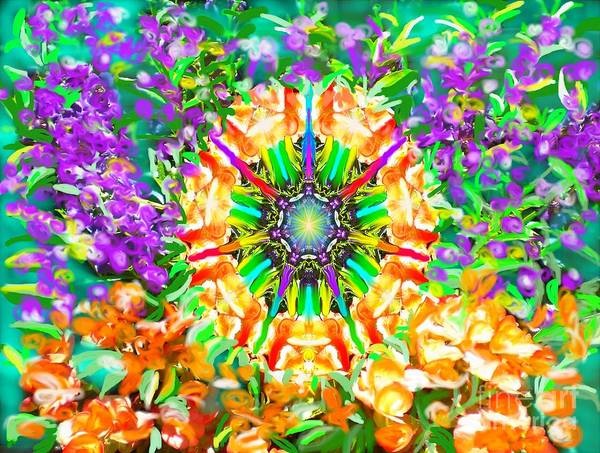 Painting - Flowers Mandala by Hidden Mountain