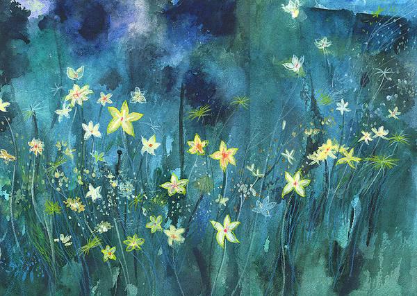 Painting - Flowers N Breeze by Anil Nene