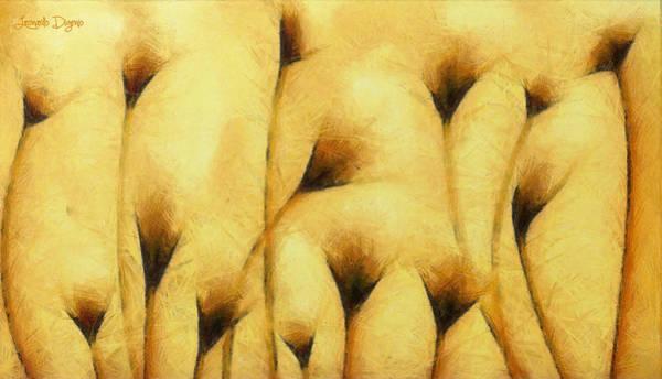 Xxx Painting - Flowers Of Love  - Pencil -  - Pa by Leonardo Digenio