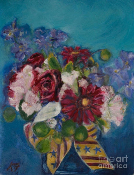 Wall Art - Painting - Flowers Of Remembrance by Karen Francis