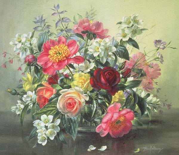 Full Bloom Painting - Flowers Of Romantic June by Albert Williams