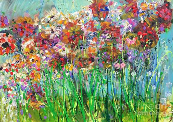 Snapdragons Painting - Flowers Of Springtime  by Jim Tucker