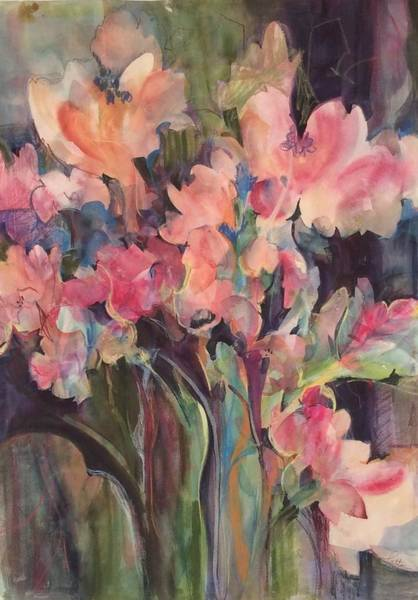 Painting - Flowers Of Summer by Karen Ann Patton