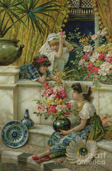 Wall Art - Painting - Flowers Of The East by William Stephen Coleman