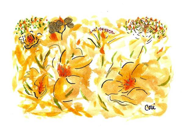 Painting - Flowers Of Yellow And Gold by Corinne Carroll