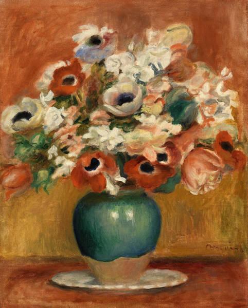 Wall Art - Painting - Flowers by Pierre-Auguste Renoir