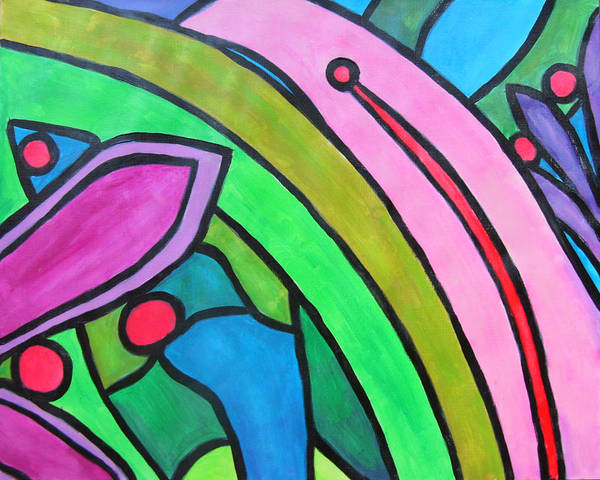 Wall Art - Painting - Flowers Pop V2 by Laura Heggestad