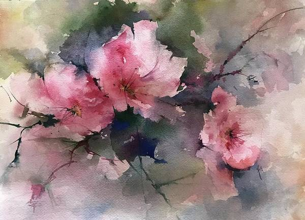 Painting - Flowers For Margaret by Robin Miller-Bookhout
