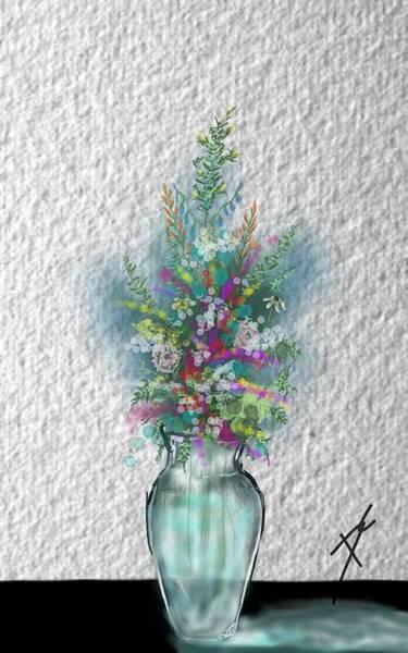 Digital Art - Flowers Study Two by Darren Cannell