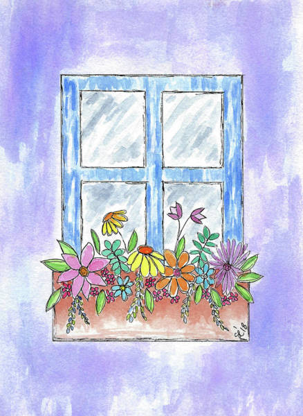 Painting - Flowers Under The Window by Susan Campbell