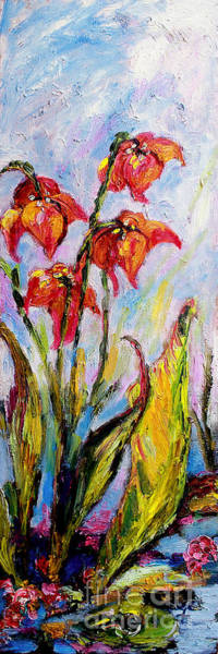 Painting - Flowers Wetlands Parrot Pitcherplant by Ginette Callaway