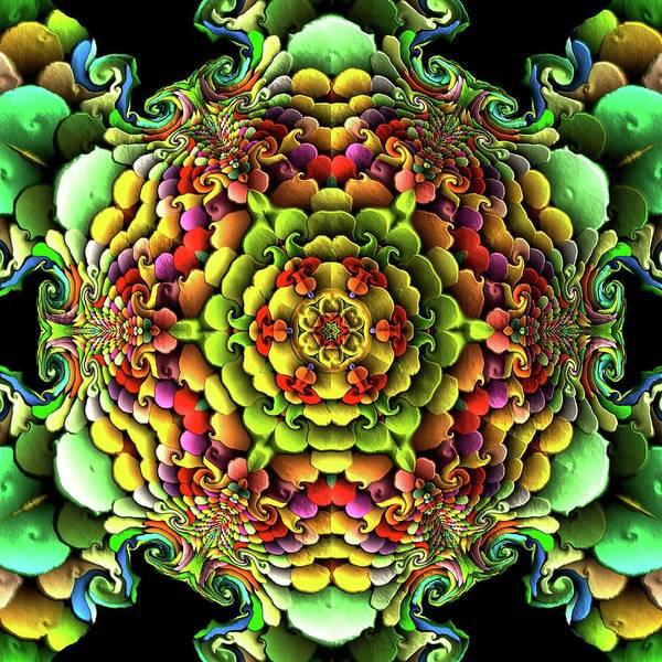 Art Print featuring the digital art Flowerscales 61 by Robert Thalmeier