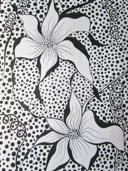 Drawing - Flowery Spot by Rosita Larsson