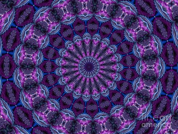 Digital Art - Flowery Tropical Islands Fractal Abstract Mandala Kaleidoscope 2 by Rose Santuci-Sofranko