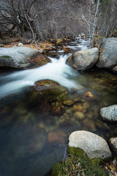 Photograph - Flowing Between Boulders by Rick Strobaugh