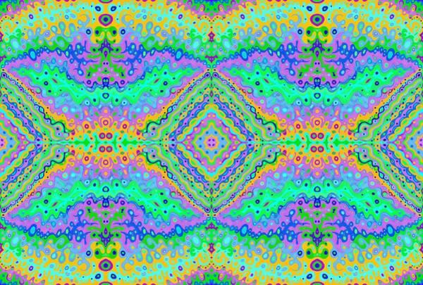 Drawing - Flowing Life Art Fractal 2 Double by Julia Woodman