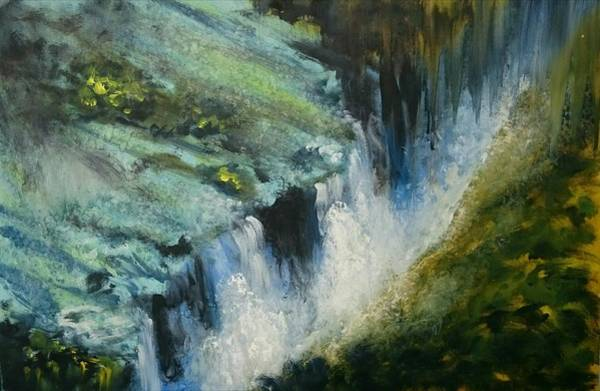 Victoria Falls Painting - Flowing Life by Peter Dacre