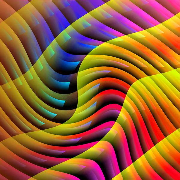 Flowing Paint Art Print