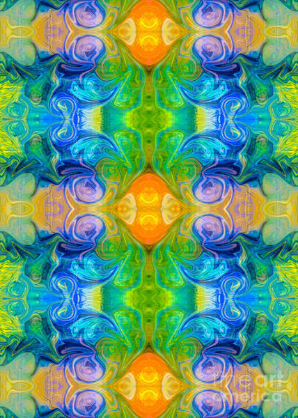 Digital Art - Flowing Realities Abstract Bliss Art By Omashte by Omaste Witkowski