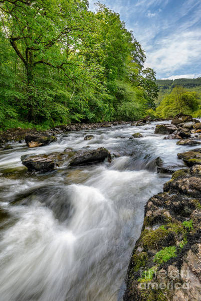 Riverside Photograph - Flowing Water by Adrian Evans
