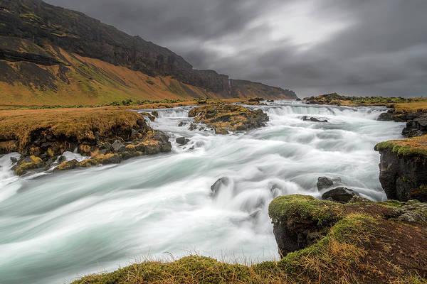 Photograph - Flowing Water And Dark Clouds by Pradeep Raja PRINTS