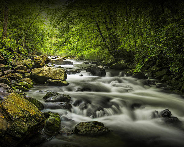 Photograph - Flowing Water On The Oconaluftee River In The Smoky Mountains by Randall Nyhof