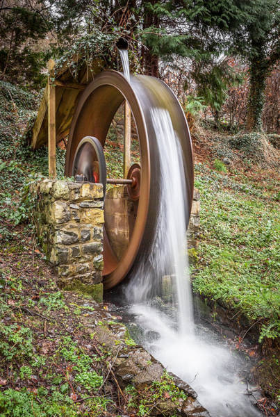 Christine Falls Photograph - Flowing Waterwheel by Christine Smart