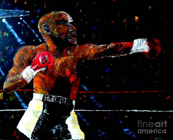 Wall Art - Painting - Floyd Mayweather Jr  by Mark Moore