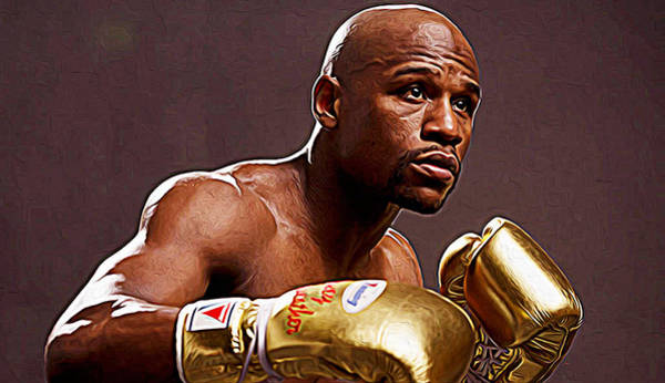 Pink Floyd Painting - Floyd Mayweather Jr. by Queso Espinosa