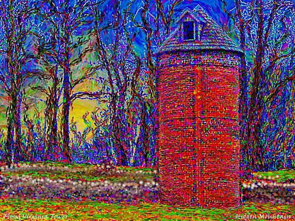 Painting - Floyd,virginia Tower by Hidden Mountain