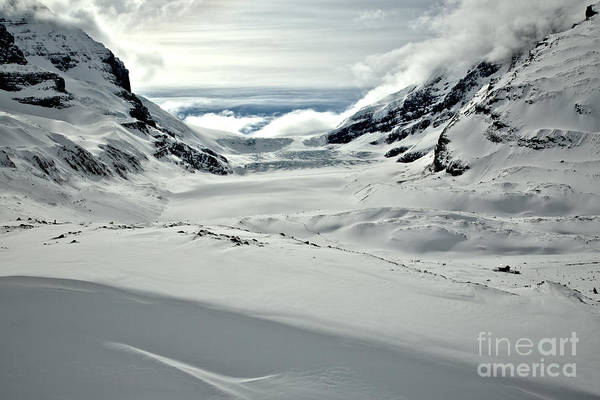 Photograph - Fluffy Clouds Over The Athabasca Glacier by Adam Jewell
