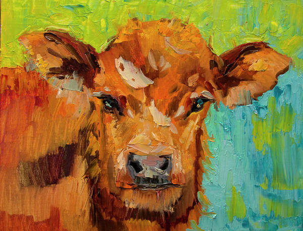 Wall Art - Painting - Fluffy Cow by Diane Whitehead