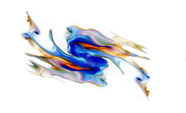 Digital Art - Fluid Colors by Fran Riley