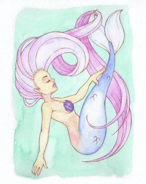 Inking Painting - Fluid Mermaid - Mermay 2018 by Armando Elizondo
