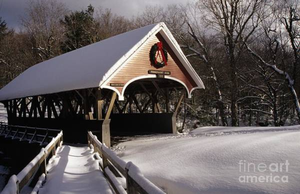 Pemigewasset River Wall Art - Photograph - Flume Covered Bridge - Lincoln New Hampshire Usa by Erin Paul Donovan