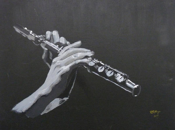 Painting - Flute Hands by Richard Le Page