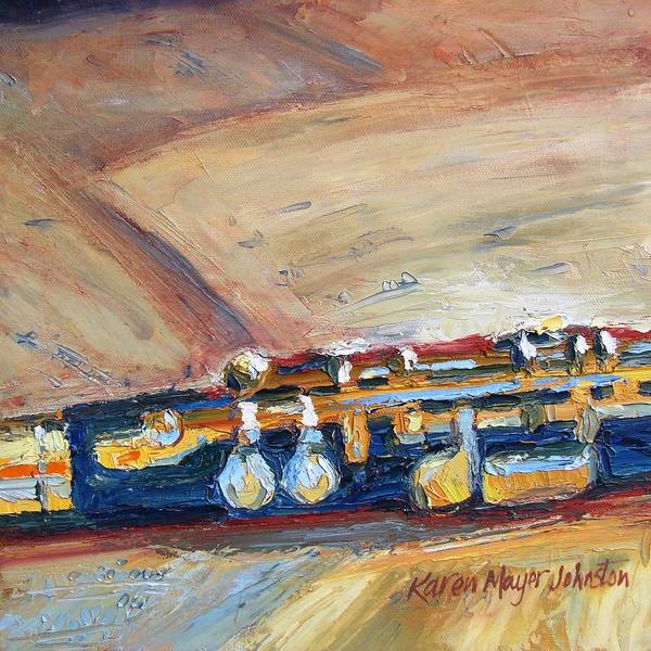 Musical Theme Painting - Flute - Part Of Musical Instrument Series by Karen Mayer Johnston